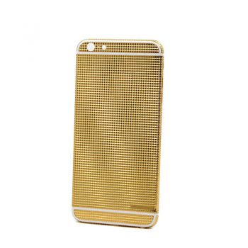 iPhone 6 24kt gold plated back housing full grid design