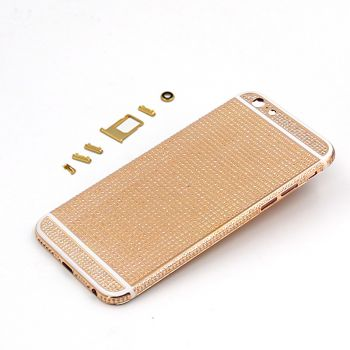 rose gold&diamond encrusted housing for iphone 6 6s plus