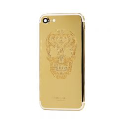 24k gold plated back housing iPhone 7 with skull design