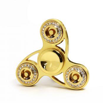 Wholesale best golden finger spinner with crystal