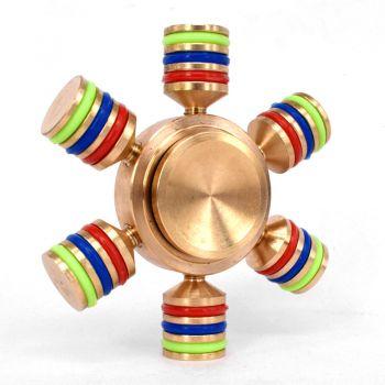 6 sides fidget Hand spinner finger brass fidget spinner toy